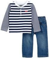 Levi's Stripe Top & Jean Set (Baby Boys)
