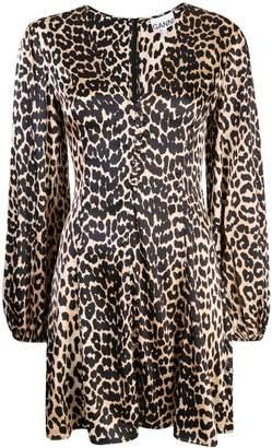 Ganni Blakely leopard dress