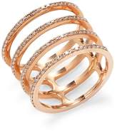 Ef Collection Women's Multi Spiral Diamond Ring