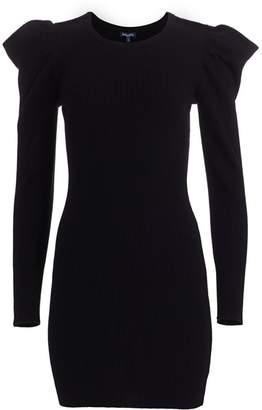 Splendid Allston Puff-Sleeve Rib-Knit Dress