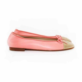 Chanel Pink Leather Ballet flats
