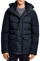 Cole Haan Mixed Media Hooded Down Jacket
