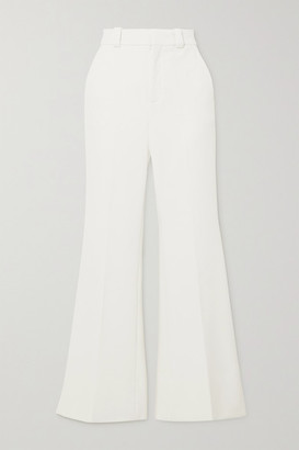 Roland Mouret Dilman Stretch-crepe Flared Pants - White