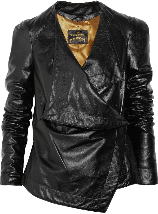 Vivienne Westwood Bayonet asymmetric leather jacket