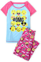 Rene Rofe Girls 7-16) Two-Piece Emoji Pajama Set