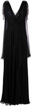 Alberta Ferretti Crystal-Embellished Gown