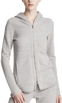 Atm French Terry Heathered Zip-Up Hoodie - Heather Grey