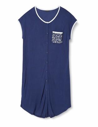 Lovable Women's Blue Modal Nightgown