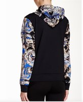 Gottex Women Printed Full Zip Long Sleeve Hooded Sweater Pullover