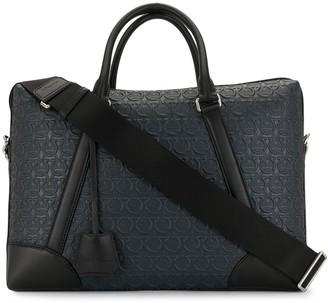 Salvatore Ferragamo Gancini-embossed briefcase