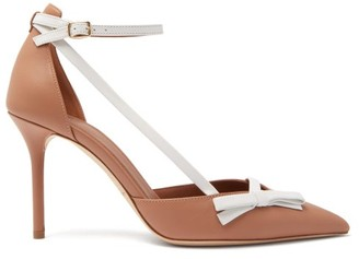 Malone Souliers Josie Bow-embellished Leather Pumps - Nude