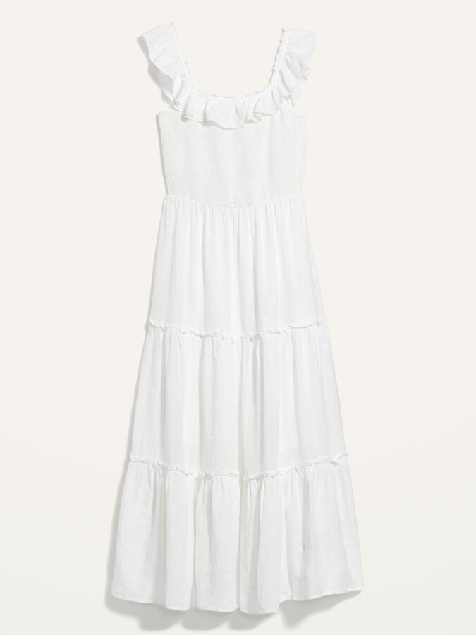 Thumbnail for your product : Old Navy Ruffled Smocked-Bodice Embroidered Sleeveless Maxi Dress for Women