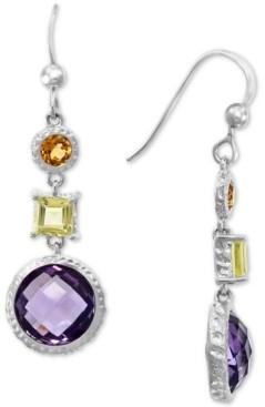 Effy Multi-Gemstone Drop Earrings (8-1/2 ct. t.w.) in Sterling Silver