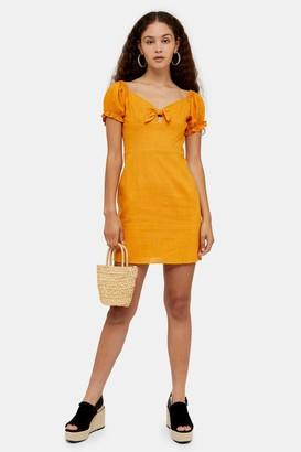Glamorous Womens **Mustard Tie Front Prairie Dress By Mustard