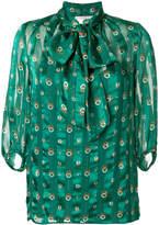 L'Autre Chose ring print blouse