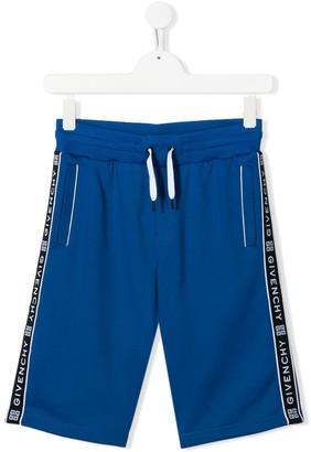 Givenchy Kids TEEN logo-print track shorts