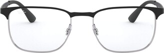 Ray-Ban RX6363 Square Metal Eyeglass Frames Non Polarized Prescription Eyewear