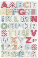 Martha Stewart Crafts Martha Stewart Stitched Fabric Alphabet Stickers