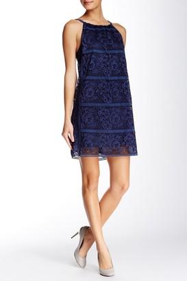 Max Studio Stripe Lace Sleeveless Dress