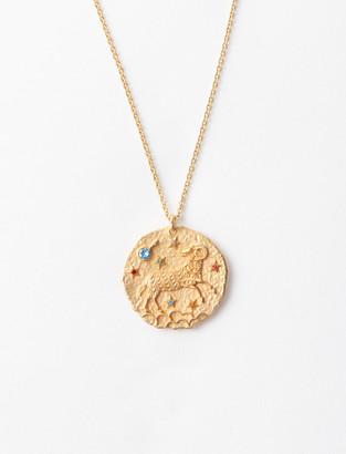 Maje Aries zodiac sign necklace