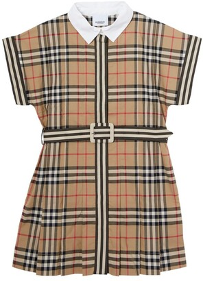 Burberry Kids Vintage Check Cotton Dress (3-12 Years)
