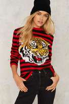Nasty Gal Pack a Growl Striped Sweater