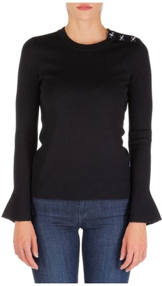 Tory Burch Embellished Crystal Sweater
