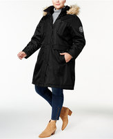 Madden-Girl Trendy Plus Size Faux-Fur-Trimmed Puffer Coat