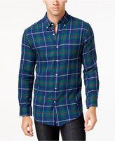 John Ashford Men's Big and Tall Long-Sleeve Tartan Plaid Shirt, Only at Macy's