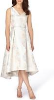 Tahari Women's Jacquard Midi Dress