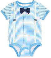 First Impressions Stripes & Suspenders Creeper, Baby Boys', Only at Macy's