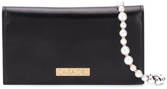 Casadei Pearl Strap Shoulder Bag