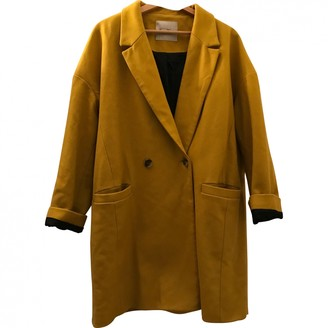 American Vintage Yellow Wool Coat for Women