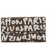 Louis Vuitton pre-owned graffiti print continental wallet