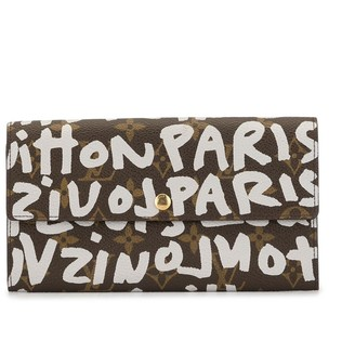 Louis Vuitton Pre-Owned graffiti print continental wallet