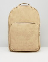 Adidas Originals Classic Backpack In Linen Khaki Bk7051