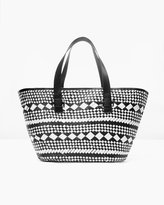 Chico's Black and White Beach Tote
