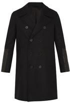 Neil Barrett Contrast-cuff Wool-blend Coat