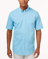 Club Room Men's Micro-Check Short-Sleeve Shirt with Pocket, Only at Macy's
