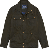 Joules Hudson Wax Jacket, Olive Green