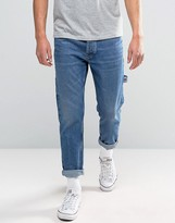 Tommy Jeans 90s Carpenter Jeans M18 Tapered Fit In Dark Wash