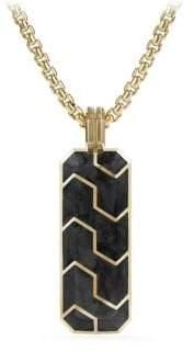 David Yurman Forged Carbon 18K Yellow Gold Ingot Pendant