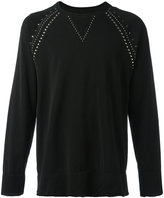 Laneus studded sweatshirt - men - Cotton/glycereth-2 cocoate - S