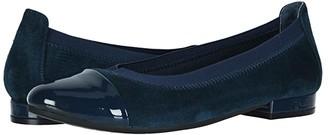 David Tate Nicole (Black Suede/Patent) Women's Shoes
