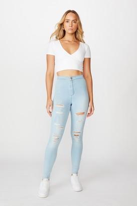 Supre Long Leg Super Skinny Sky High Ripped Jean