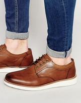 Dune Derby Shoes In Tan Leather