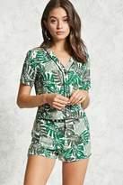 Forever 21 Tropical Leaf Print Shorts