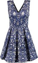 Markus Lupfer Daria pleated printed satin mini dress