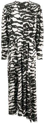 Isabel Marant V-neck zebra-print maxi dress