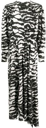 Isabel Marant V-neck zebra-print maxi dress